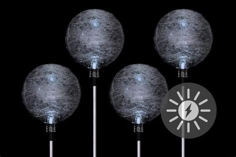 wegbeleuchtung led set 4er set solarle kugel solarleuchte gartenbeleuchtung