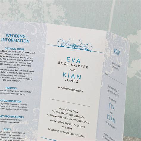 smile three fold wedding invitation by wedding print - 3 Fold Wedding Invitations