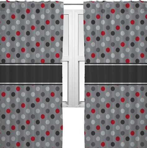 grey polka dot curtains red gray polka dots curtains 2 panels per set