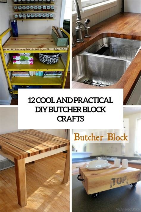 butcher block table top diy 12 cool and practical diy butcher block crafts shelterness