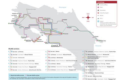 san jose international airport route map shuttle san jose airport to playa potrero costa rica
