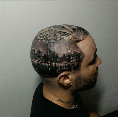 tattoo pen on head insane head tattoos inked magazine body image ink