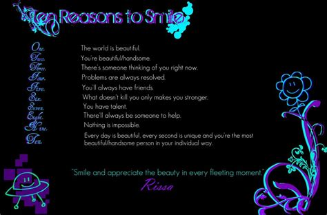 10 Reasons To Smile In by 10 Reasons To Smile Background By Mizzymarine On Deviantart