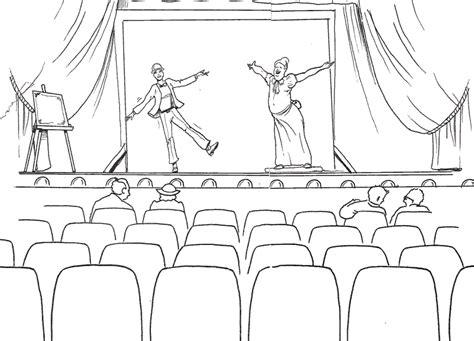 imagenes de obras literarias para colorear el teatro para colorear imagui