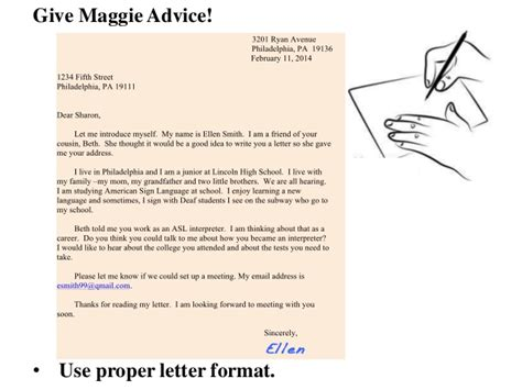 Pre Offer Advice Letters Write A Letter Give Maggie Advice