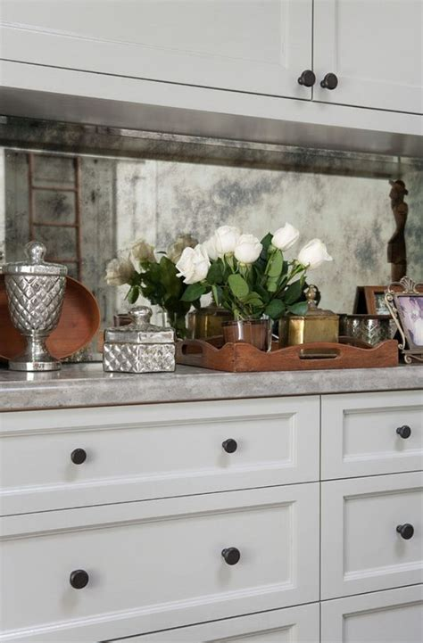 mirrored kitchen backsplash 25 sophisticated antique mirror ideas for your home digsdigs