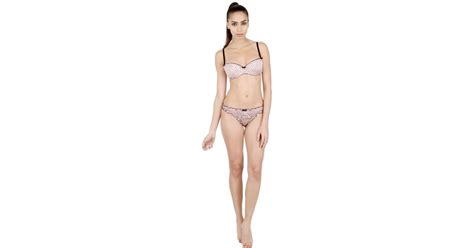 Set Polka Dot Push Up Bra blumarine polka dot satin push up bra brief set in pink lyst