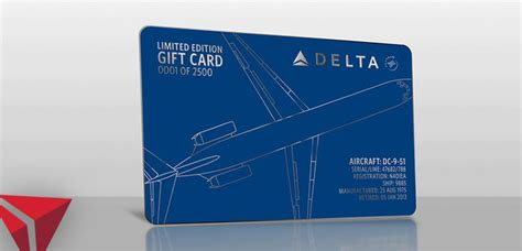 Dc Gift Cards - delta s selling gift cards constructed from a retired dc 9
