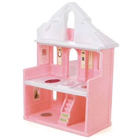 step 2 dollhouse inside of pink dollhouse