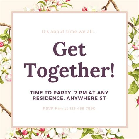 get together invitation cards templates customize 675 get together invitation templates
