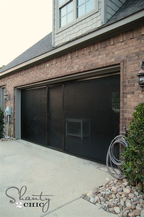 Check Out My New Garage Screen So Awesome Shanty 2 Chic Garage Door Screen Door