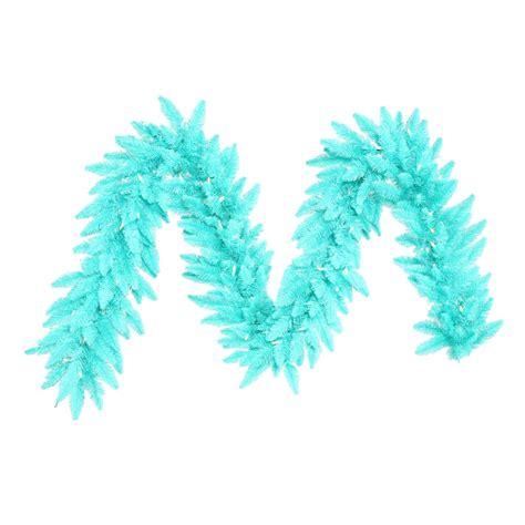 9 foot artificial christmas blue garland blue pre lit