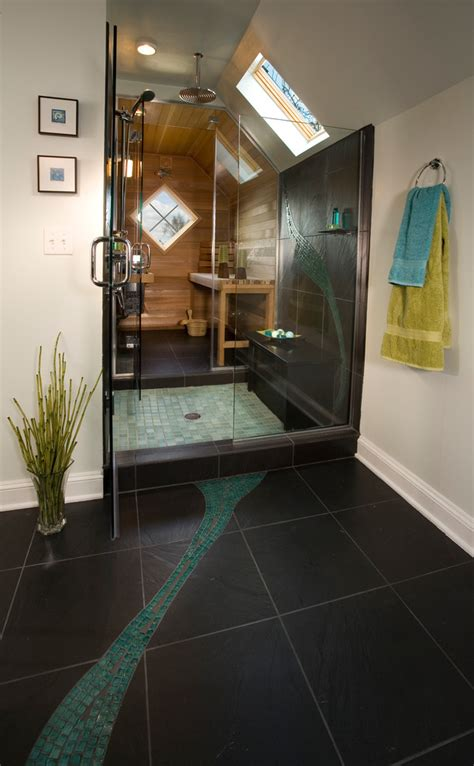 sauna bathroom sauna shower combo bathroom contemporary with cable wire