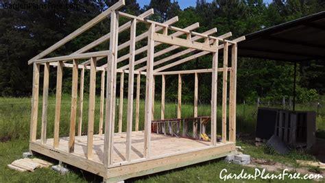 lean  shed  garden plans   build