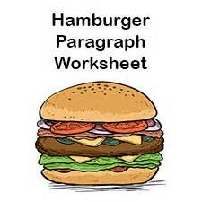 hamburger paragraph template hamburger graphic organizers hamburger paragraph template