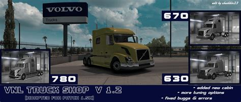 volvo truck store volvo vnl 780 truck shop v3 0 1 27 x 187 download game mods