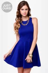 royal blue dress racer back dress royal blue dress skater dress 39 00