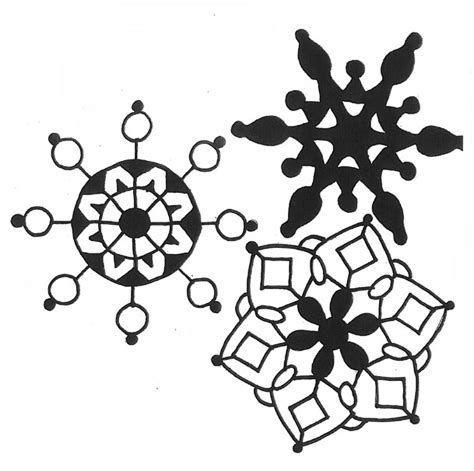 snowflake pattern to trace the gallery for gt snowflake patterns to trace