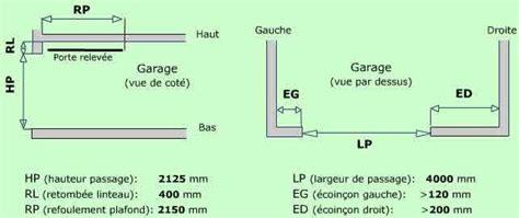 dimension porte de garage basculante standard porte de garage basculante dimensions standard maison