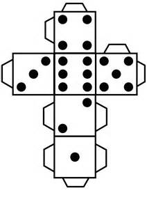 Make A Dice Out Of Paper - clipart printable die dice