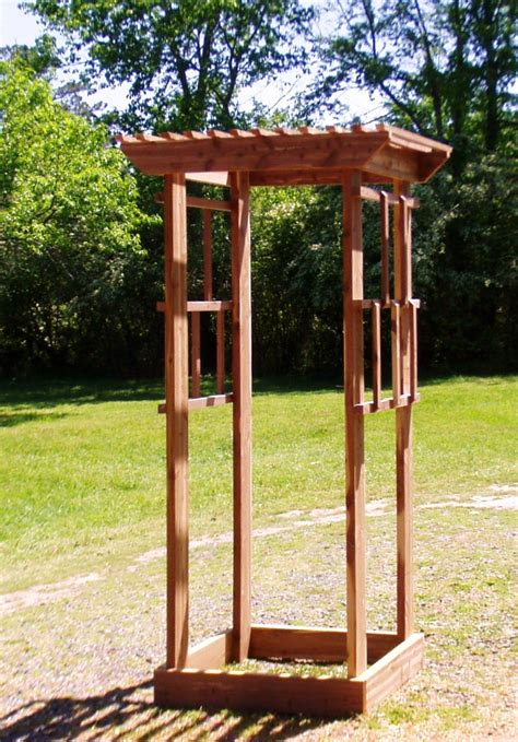 10 Foot Garden Trellis Garden Trellis Handcrafted Cedar 7 Ft 3 Ft Wide