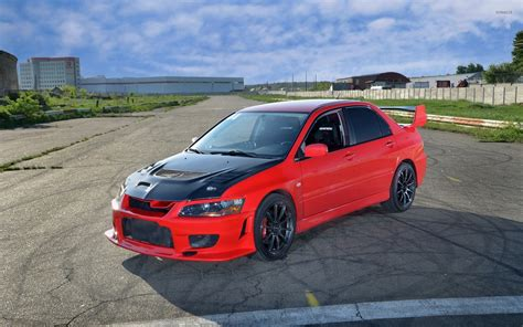 Black And Red Mitsubishi Lancer Evolution Wallpaper Car
