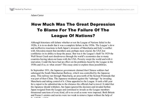 Essay About The Great Depression by Essays About The Great Depression