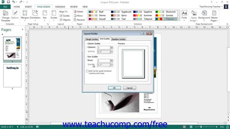 layout guides publisher 2013 publisher 2013 tutorial using layout guides microsoft