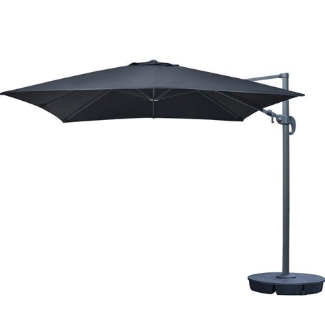 Square Cantilever Patio Umbrella Island Umbrella Santorini Ii 10 Ft Square Cantilever Patio Umbrella In Black Sunbrella Acrylic