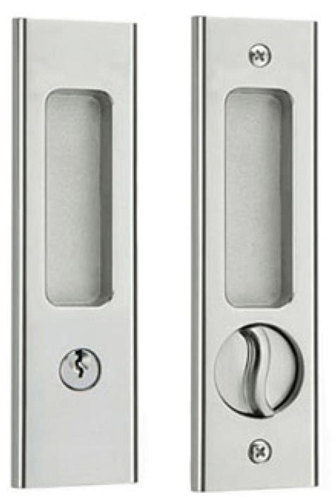 Sliding Door Handle Privacy With Keyed Mortise Lock