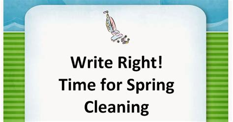 time for spring cleaning the best of teacher entrepreneurs language arts activity