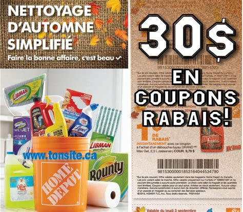 coupons rabais home depot