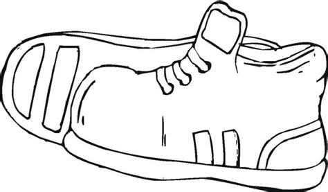 Printable Sport Shoes Coloring Pages Kidskat Com Clipart Shoe Coloring Pages