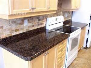 Blue Kitchen Backsplash granite overlay by crs granite baltic brown granite