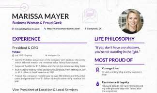 make your content look as as this cv from yahoo s ceo