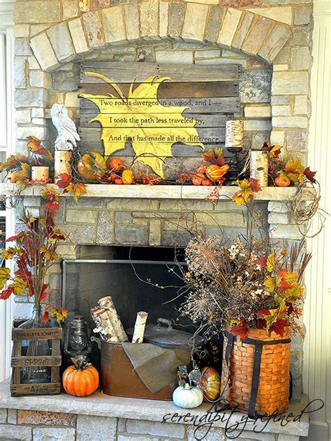 diy fall mantel decor ideas to inspire do it yourself