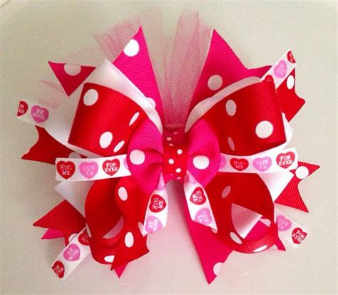 valentines day bow valentines day hair bow