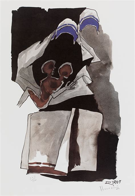 M F Hussain Sketches by M F Husain Lithographs At The V A And Albert