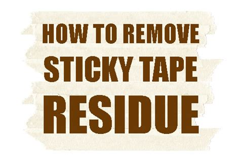 six simple solutions to remove tape residue echotape