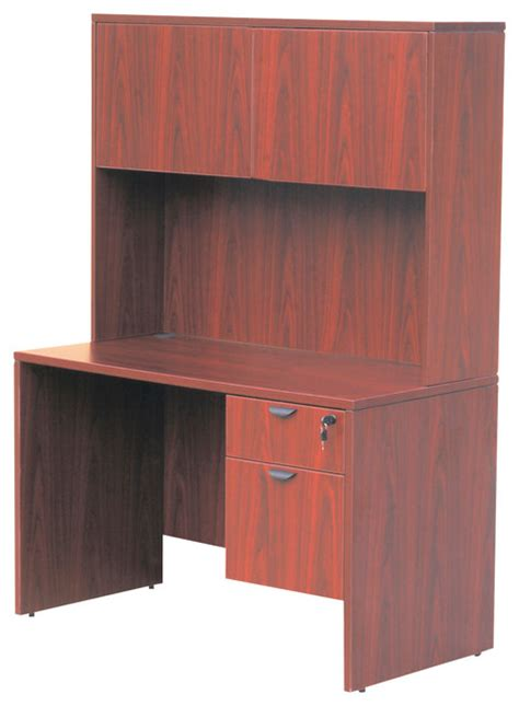 48 inch home office desk boss chairs boss 48 inch desk with hutch in cherry