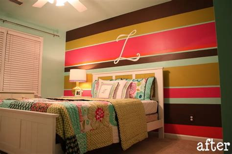 striped accent wall transitional girl s room striped accent wall future home projects pinterest