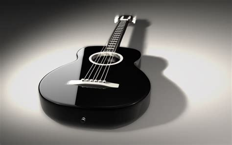 guitar wallpaper black and white hd blue and black acoustic guitar 24 hd wallpaper