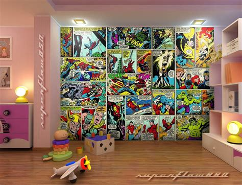 marvel bedroom wallpaper photos and video marvel wallpaper for boy room wallpapersafari