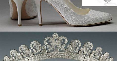 house of windsor shoes shoes earrings and tiara worn by the duchess of cambridge on her wedding day house