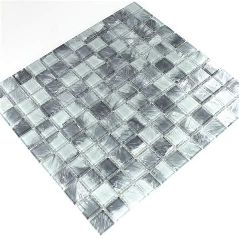 fliese grau marmoriert glasmosaik fliese wischgrau marmoriert 25x25x4mm tm33048m