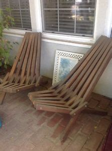 vintage mid century danish modern wood slat folding deck