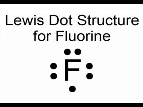 fluorine dot diagram lewis dot structure for fluorine atom f