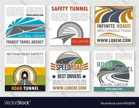 Road Travel And Traffic Safety Flyer Template Vector Image Safety Flyer Template