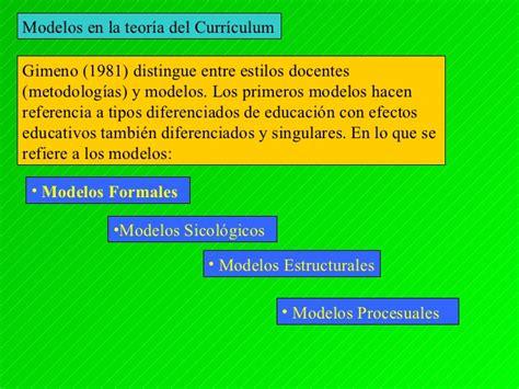 Modelos Curriculares En Educacion Modelos Curriculares