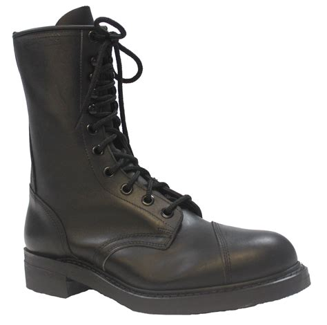 black leather steel toe boots size 10 5